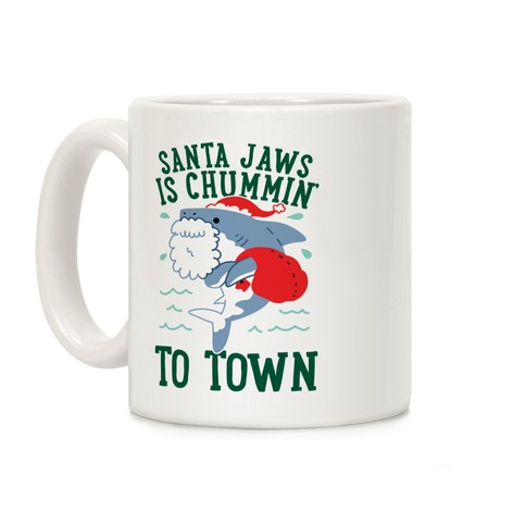 Santa Jaws Is Chummin' To Town Coffee Mug
