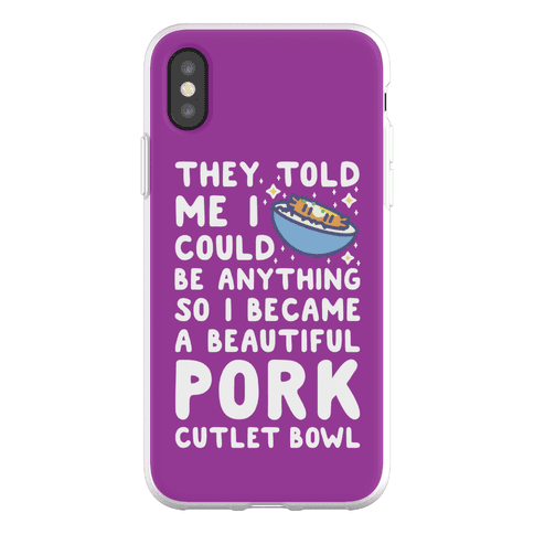 I Became a Beautiful Pork Cutlet Bowl Phone Flexi-Case