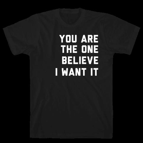 I Want It That Way Lyrics (1 of 2 pair) Mens/Unisex T-Shirt