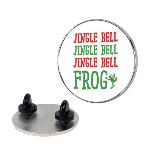 Jingle Bell Frog Pin