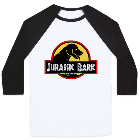 Jurassic Bark Baseball Tee