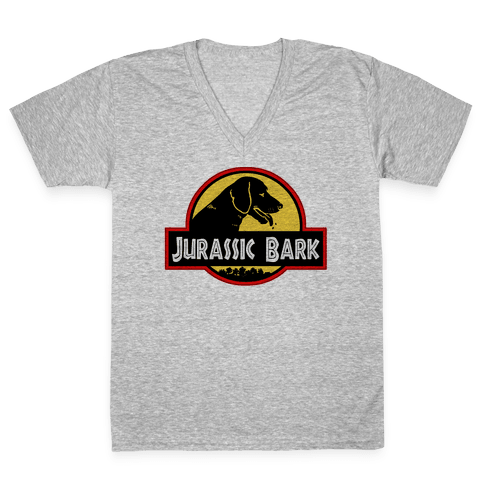 Jurassic Bark V-Neck Tee Shirt