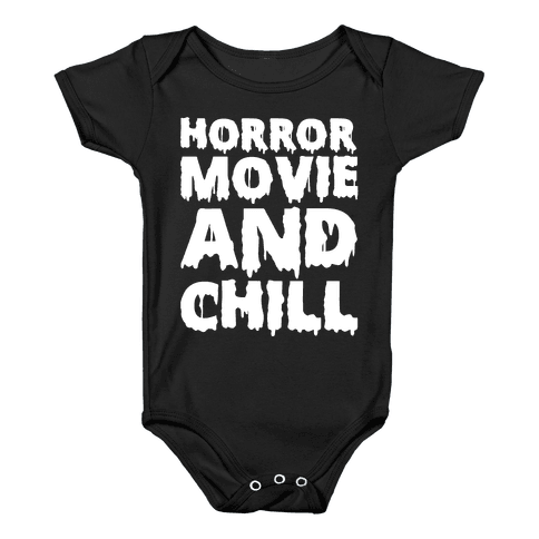 Horror Movie and Chill Baby Onesy