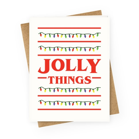 Jolly Things Greeting Card