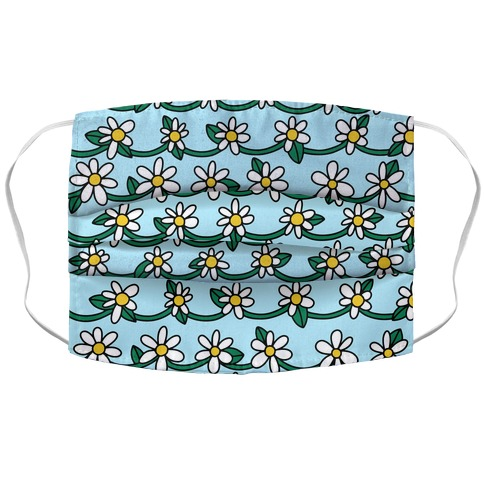 Daisy Chain Pattern Accordion Face Mask
