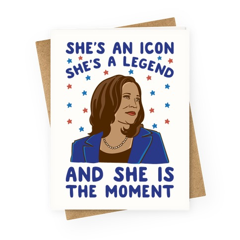 She Is The Moment Kamala Harris Greeting Card