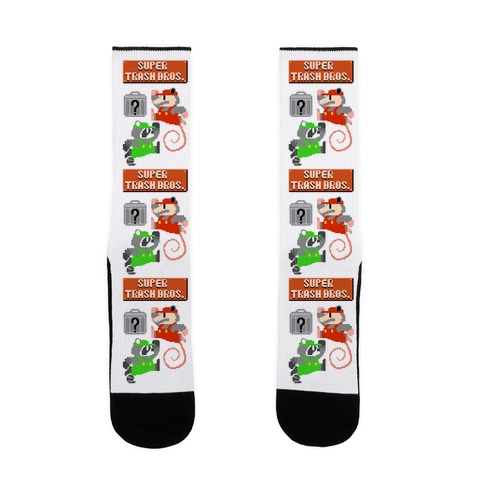 Super Trash Bros Sock