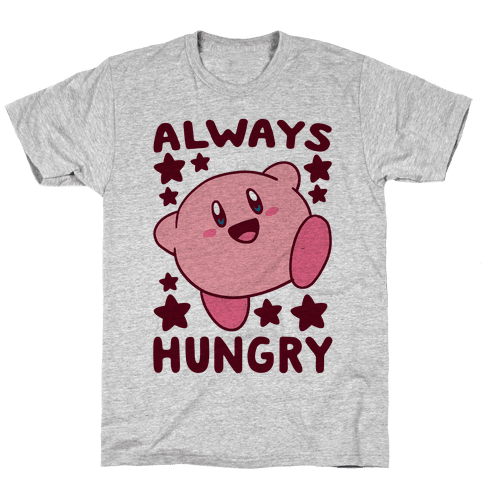 Always Hungry - Kirby Mens/Unisex T-Shirt