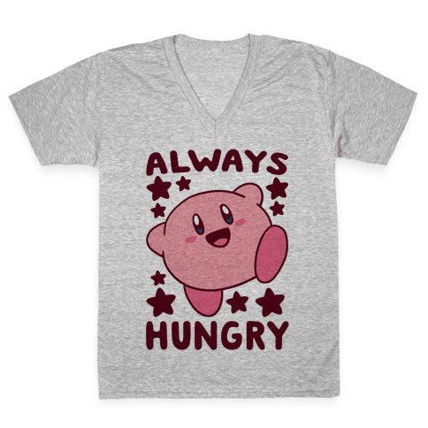 Always Hungry - Kirby V-Neck Tee Shirt