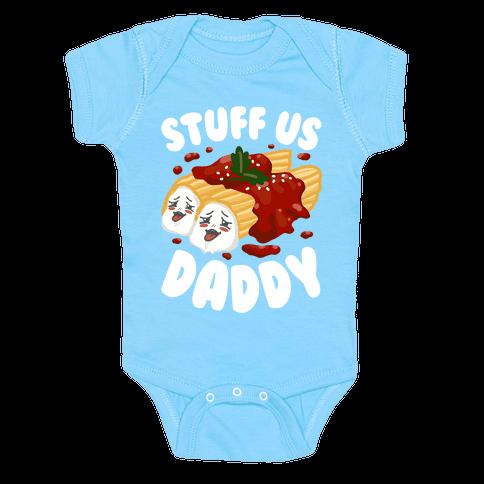 Stuff Us Daddy Manicotti Baby One-Piece