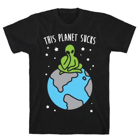 This Planet Sucks (White) Mens T-Shirt