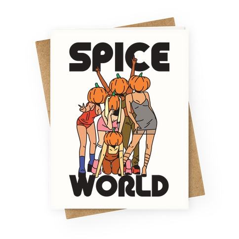 Spice World Pumpkin Spice Greeting Card