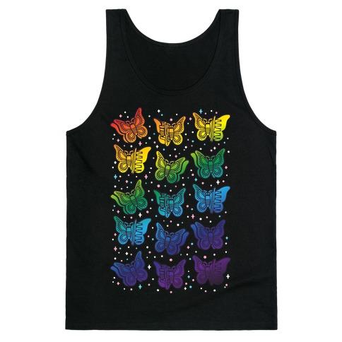 Butterfly Clips LGBTQIA+ Pride White Print Tank Top