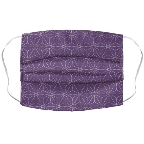 Sashiko Asanoha (Purple) Face Mask Cover