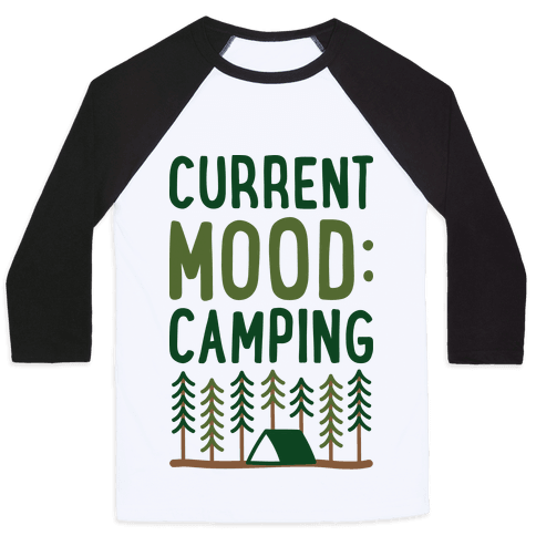 Current Mood: Camping (CMYK) Baseball Tee