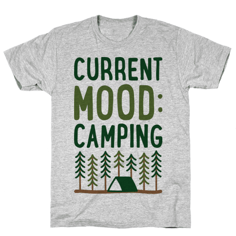 Current Mood: Camping (CMYK) Mens T-Shirt
