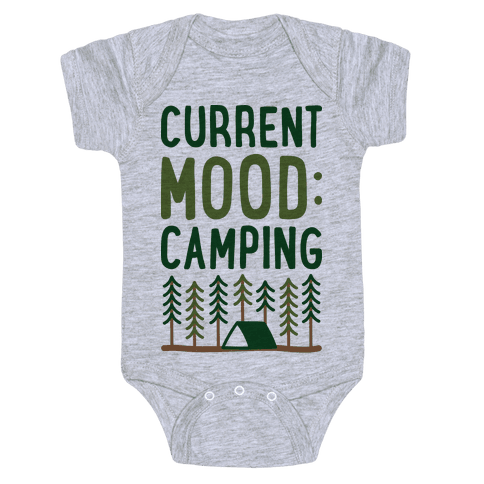 Current Mood: Camping (CMYK) Baby Onesy