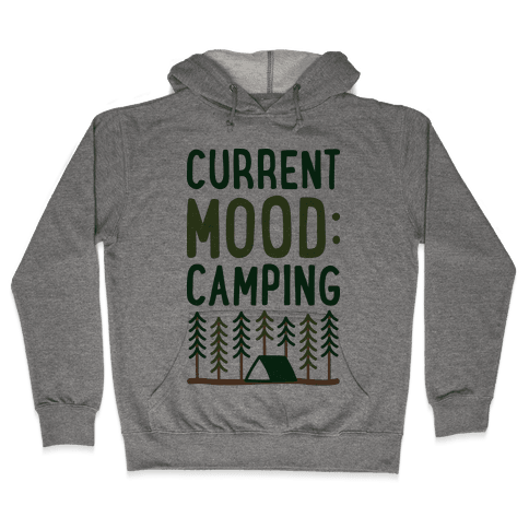 Current Mood: Camping (CMYK) Hooded Sweatshirt