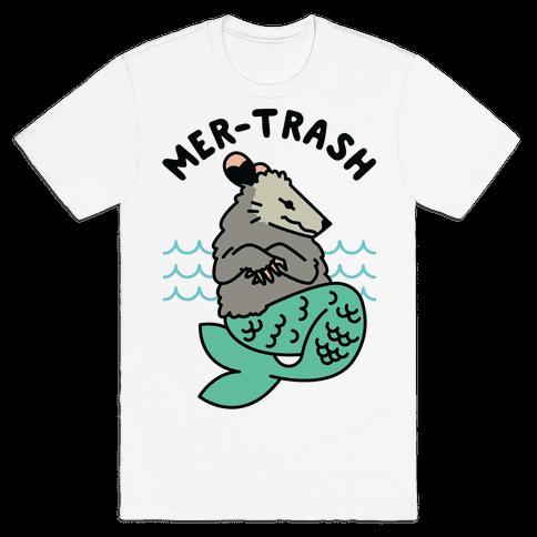 Mer-Trash Opossum Mens T-Shirt