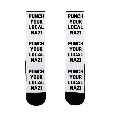 Punch Your Local Nazi Sock