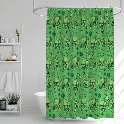 Forage Frogs Shower Curtain