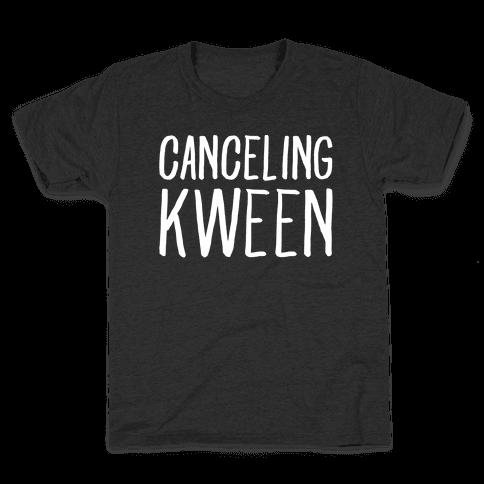 Canceling Kween White Print  Kids T-Shirt
