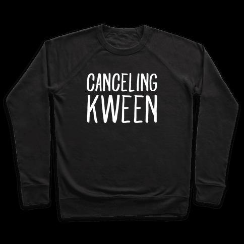 Canceling Kween White Print  Pullover