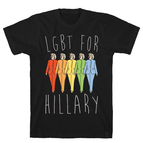 LGBT For Hillary White Print Mens T-Shirt