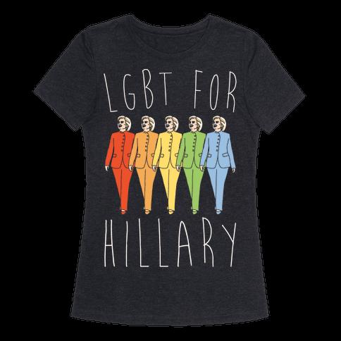 LGBT For Hillary White Print
