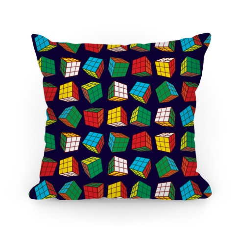 Rubix Cubes Pattern Pillow