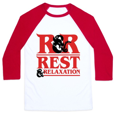 Rest & Relaxation D&D Parody Baseball Tee
