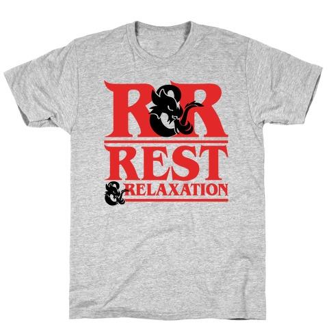 Rest & Relaxation D&D Parody T-Shirt