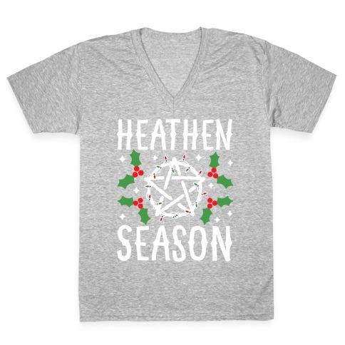 Heathen Season Christmas V-Neck Tee Shirt