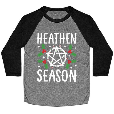 Heathen Season Christmas Baseball Tee