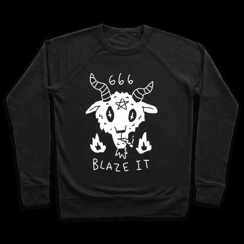 666 Blaze It Satan Pullover