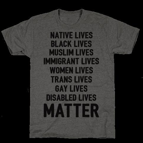 Minority Lives Matter Mens T-Shirt