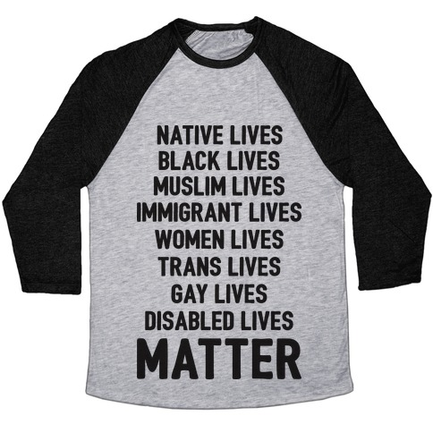 Minority Lives Matter Baseball Tee