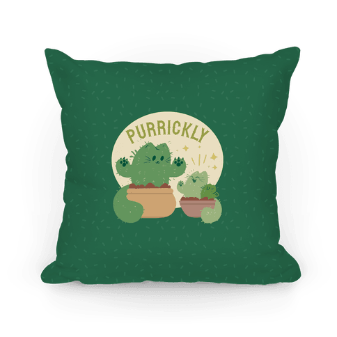 Purrickly! Pillow