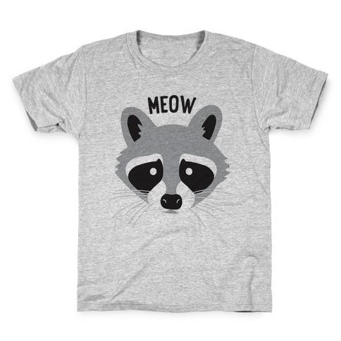 Meow Raccoon Kids T-Shirt