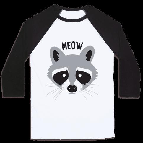Meow Raccoon Baseball Tee