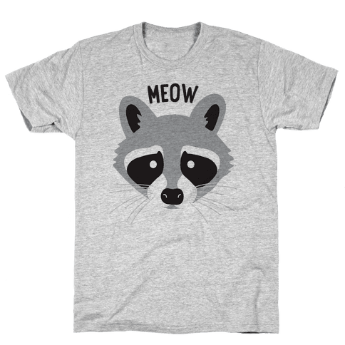 Meow Raccoon Mens T-Shirt