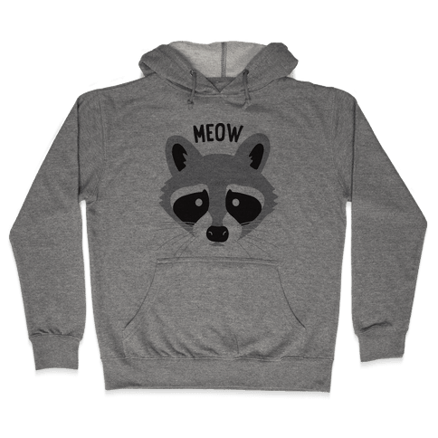 Meow Raccoon Hooded Sweatshirt
