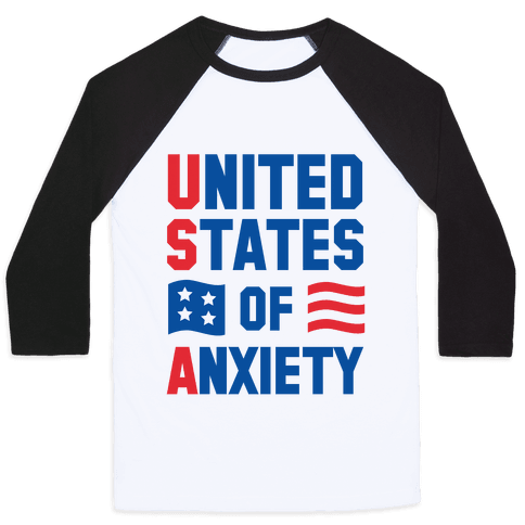 United States of Anxiety Baseball Tee