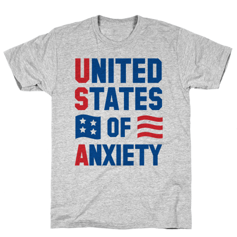 United States of Anxiety Mens T-Shirt