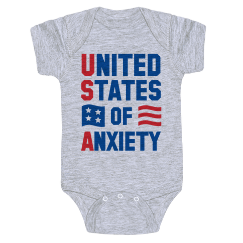 United States of Anxiety Baby Onesy