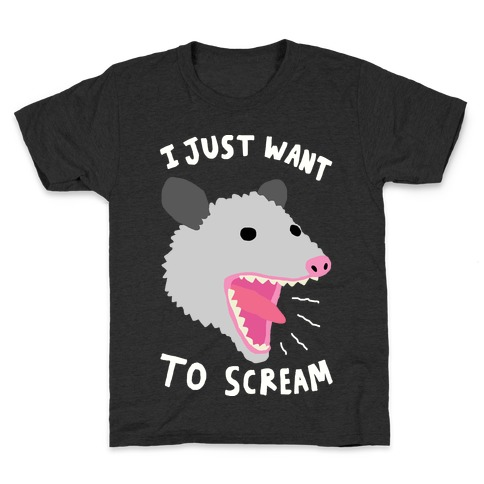I Just Want To Scream Kids T-Shirt