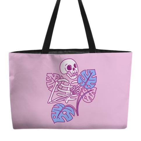 Monstera Skeleton Weekender Tote
