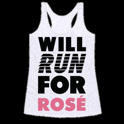 Will Run For Ros Racerback Tank Top