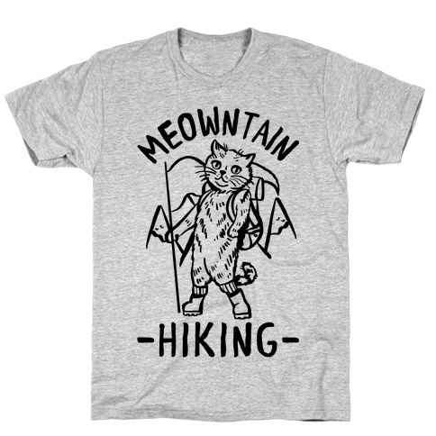 Meowntain Hiking Cat T-Shirt