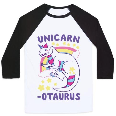 Unicarnotaurus - Unicorn Carnotaurus Baseball Tee